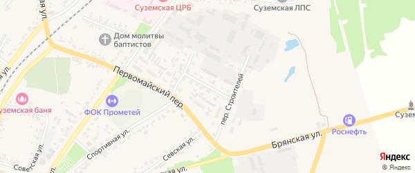 Переулок Механизаторов на карте поселка Суземки с номерами домов