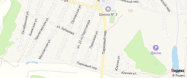 Парковая улица на карте Сельца с номерами домов