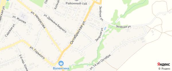 1-й Октябрьский переулок на карте поселка Суземки с номерами домов