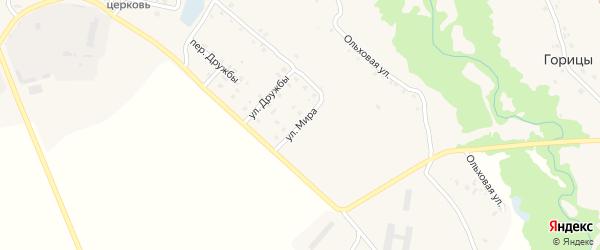 Улица Мира на карте села Скуратово с номерами домов