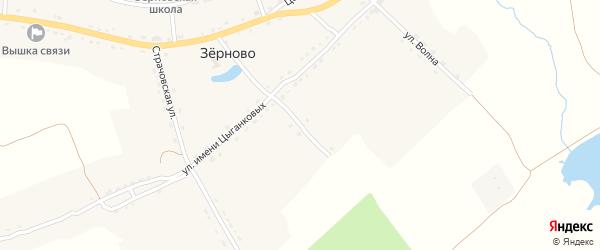 Тупик Имени Цыганковых на карте села Зерново с номерами домов