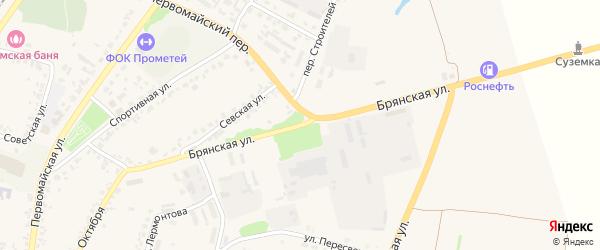 Брянская улица на карте поселка Суземки с номерами домов