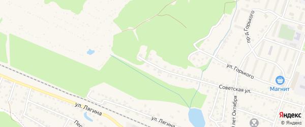 Советский микрорайон на карте Сельца с номерами домов