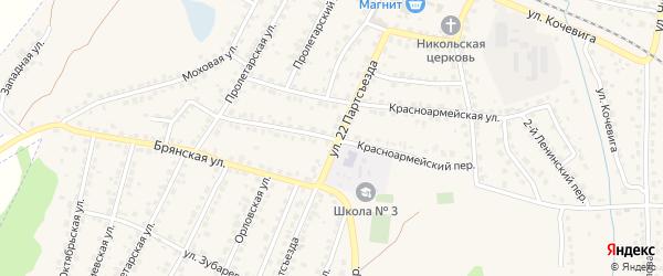 Красноармейский переулок на карте Сельца с номерами домов