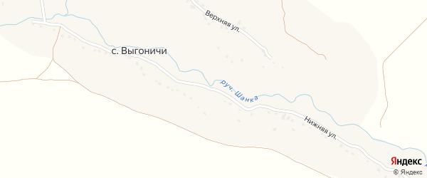 Нижняя улица на карте села Выгоничей с номерами домов