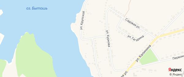 Улица Крупской на карте поселка Бытоши с номерами домов