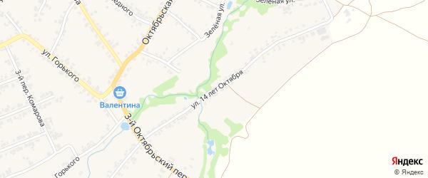 Улица 14 лет Октября на карте поселка Суземки с номерами домов