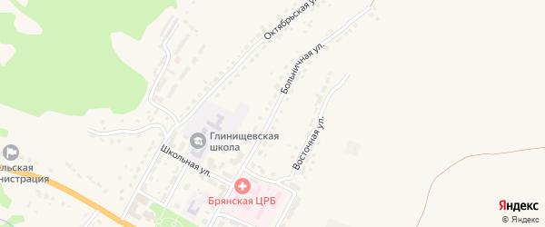 Больничная улица на карте села Глинищево с номерами домов