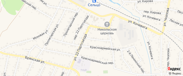 Территория ГО 6 на карте Сельца с номерами домов