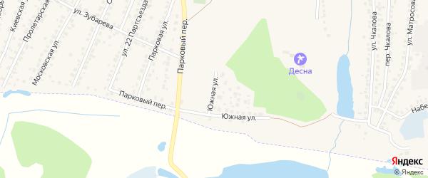 Южная улица на карте Сельца с номерами домов
