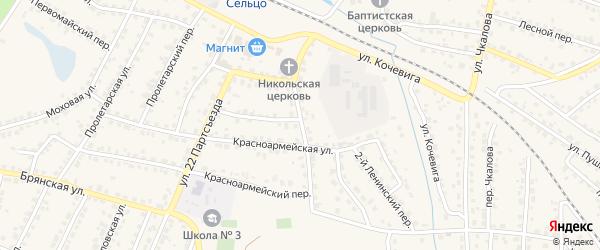 Улица Ленина на карте Сельца с номерами домов