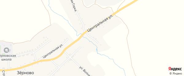 Центральный тупик на карте села Зерново с номерами домов