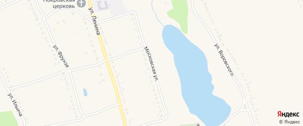 Московская улица на карте поселка Бытоши с номерами домов
