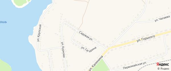 Садовая улица на карте поселка Бытоши с номерами домов