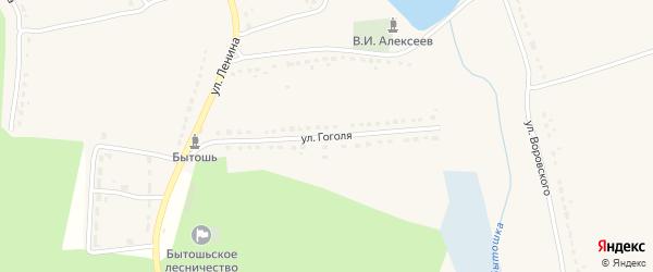 Улица Гоголя на карте поселка Бытоши с номерами домов