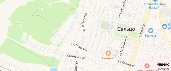 Улица 60 лет Октября на карте Сельца с номерами домов