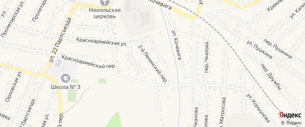 2-й Ленинский переулок на карте Сельца с номерами домов