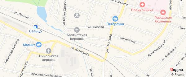 Переулок Кирова на карте Сельца с номерами домов