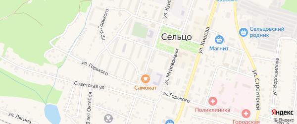 Улица Куйбышева на карте Сельца с номерами домов