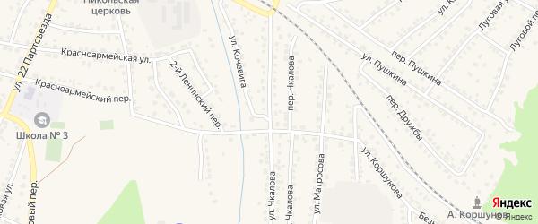 Улица Чкалова на карте Сельца с номерами домов