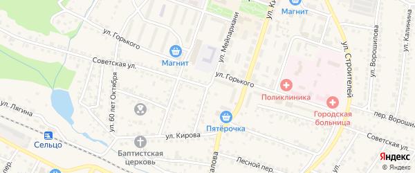 Советская улица на карте Сельца с номерами домов