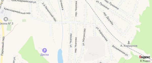 Переулок Чкалова на карте Сельца с номерами домов