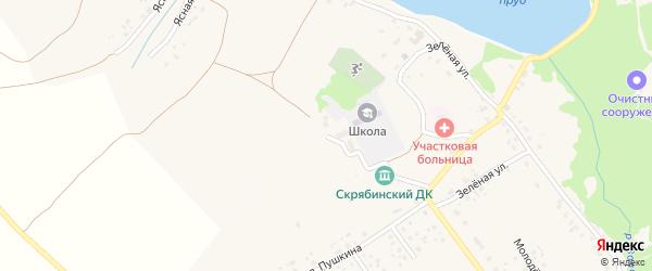 Школьная улица на карте деревни Скрябино с номерами домов