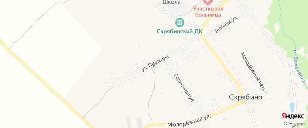 Улица Пушкина на карте деревни Скрябино с номерами домов