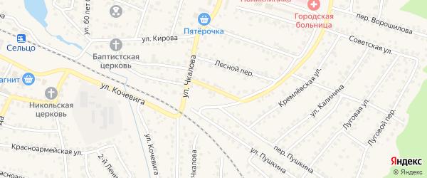 Лесная улица на карте Сельца с номерами домов