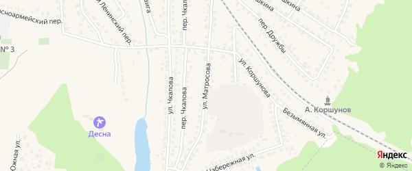 Улица Матросова на карте Сельца с номерами домов