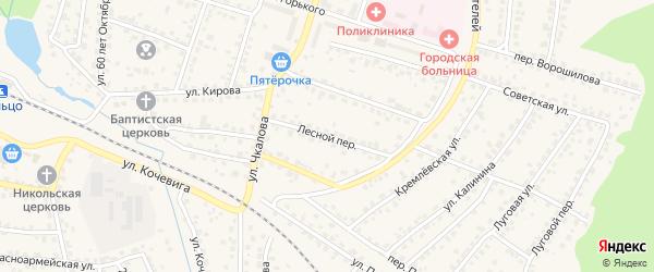 Лесной переулок на карте Сельца с номерами домов