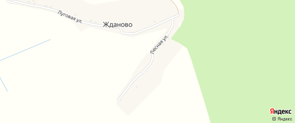 Лесная улица на карте поселка Жданово с номерами домов