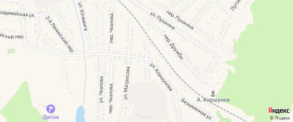 Переулок Матросова на карте Сельца с номерами домов