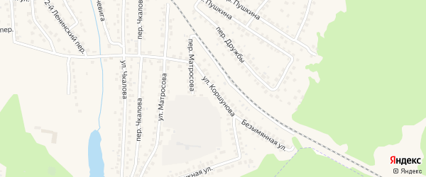 Улица Коршунова на карте Сельца с номерами домов