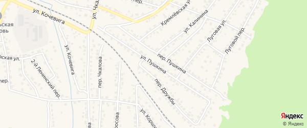 Улица Пушкина на карте Сельца с номерами домов