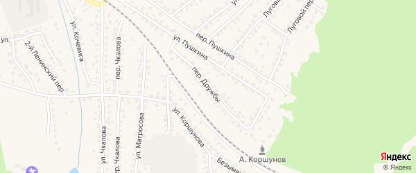 Переулок Дружбы на карте Сельца с номерами домов