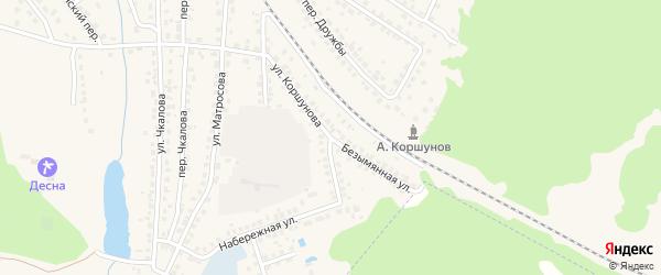 Безымянная улица на карте Сельца с номерами домов