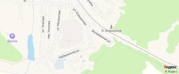Безымянный переулок на карте Сельца с номерами домов