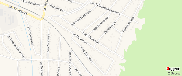 Переулок Пушкина на карте Сельца с номерами домов