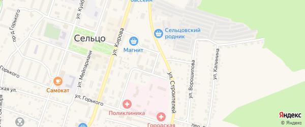 Территория ГО 1 на карте Сельца с номерами домов
