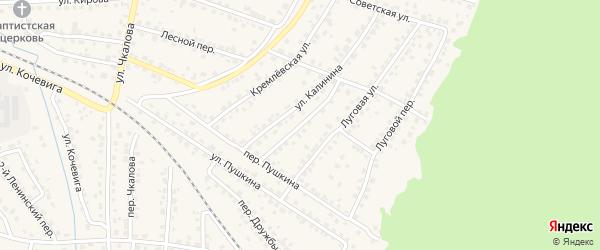 Переулок Калинина на карте Сельца с номерами домов