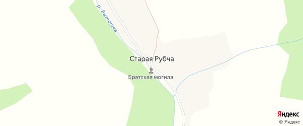 Улица Мира на карте деревни Старой Рубчи с номерами домов