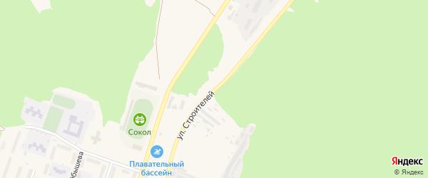 Улица Строителей на карте Сельца с номерами домов
