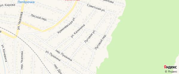 Луговая улица на карте Сельца с номерами домов