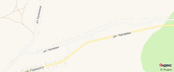 Улица Чапаева на карте поселка Бытоши с номерами домов