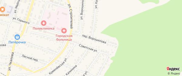 Улица Калинина на карте Сельца с номерами домов