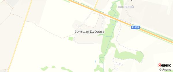 Карта поселка Большей Дубравы в Брянской области с улицами и номерами домов