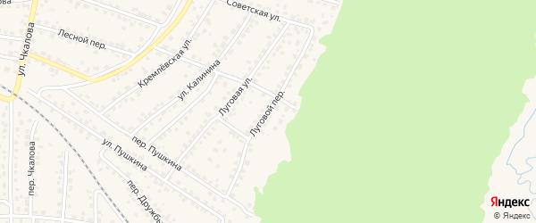 Луговой переулок на карте Сельца с номерами домов