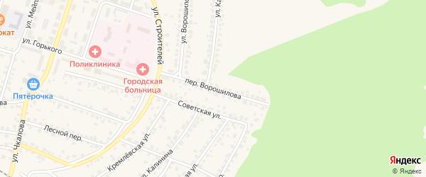 Переулок Ворошилова на карте Сельца с номерами домов