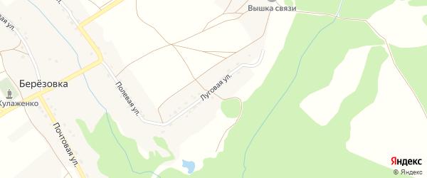 Луговая улица на карте деревни Березовки с номерами домов